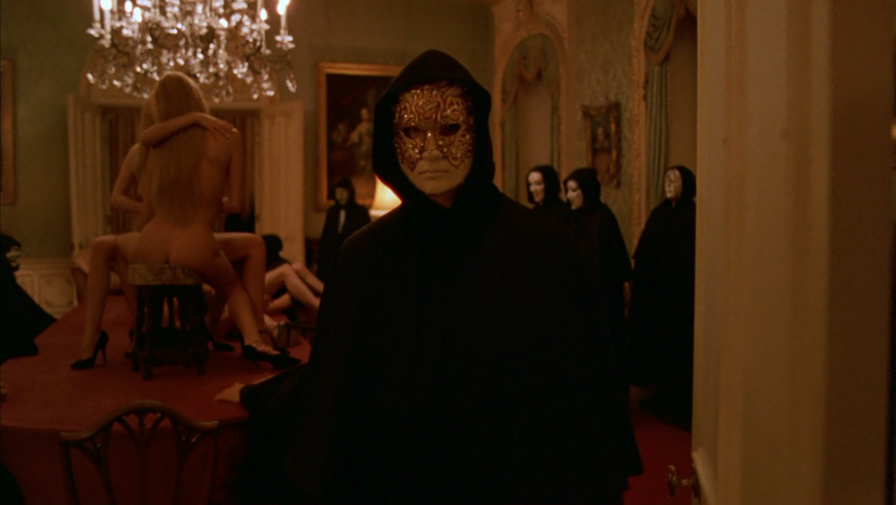 Is the picture eyes wide shut trying to unmask something about hollywood